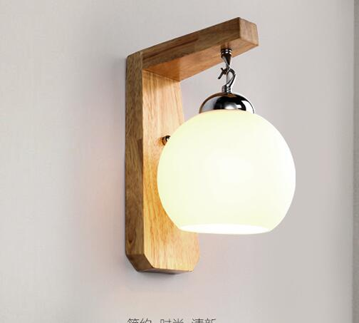 Solid wood bedroom bedside lamp wall lamp aisle stairs logs Nordic A1 American modern minimalist wall lamps 6016 ZH wall lamp nordic bedroom balcony wall lamp modern simplicity bedside lamp wall lighting stairs wall lamps indoor bathroom light