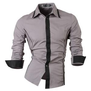 Image 4 - Jeansian אביב סתיו תכונות חולצות גברים מקרית ג ינס חולצה הגעה חדשה ארוך שרוול מקרית Slim Fit זכר חולצות 8015