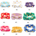 Baby Girls Gold Polka Dots Bow  Rabbit Ears Headband Kids Infant Knotted Hairband Accessories