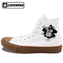 Men Women Converse Shoes Animal Gorilla Original Design Canvas Sneakers High Tops Lace Up Flats Chucks Taylor Christmas Gifts