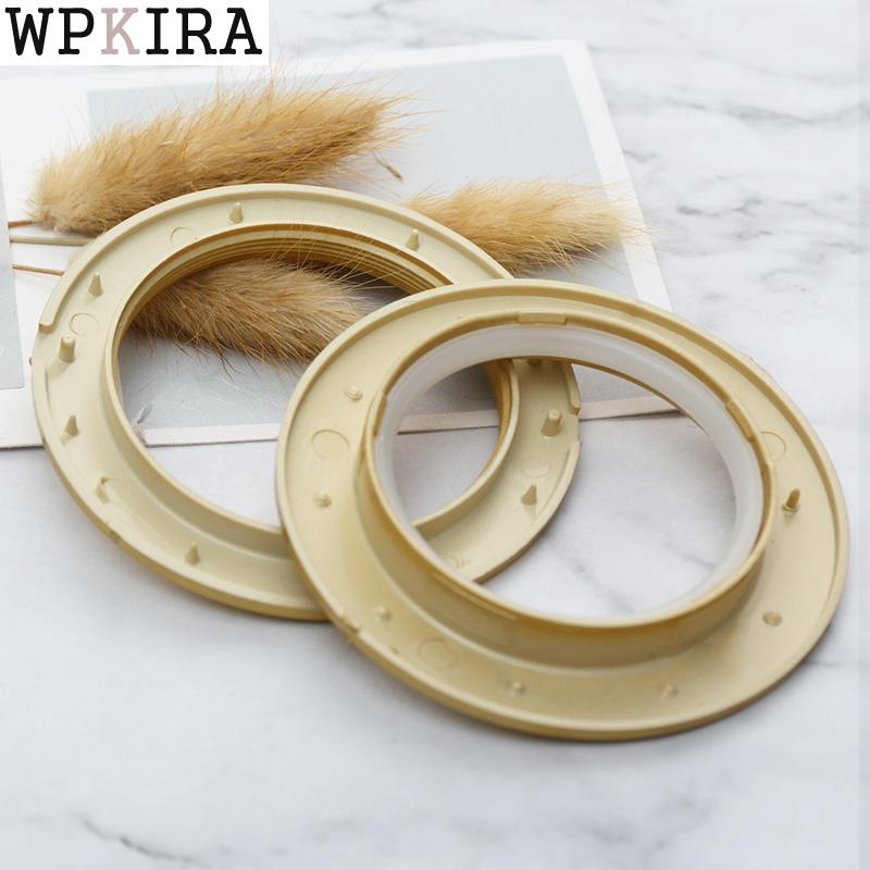 Curtains Rings Plastic Low Noise Roman Ring Shower Curtain Rods Ring Eyelet for Curtain Accessories Home Decor cp001&20