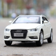 Die-cast Alloy Toy Cars Children Vehicle Models 1:32 Audi A3 Pull back With Sound Light Electric Car(China)