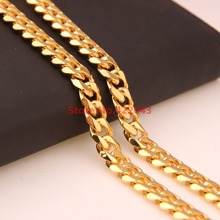 New Arrival 7-40inch Choose Gift Fashion 10mm Stainless Steel Gold color  Cuban Chain Necklace Bracelet High Quality Jewelry