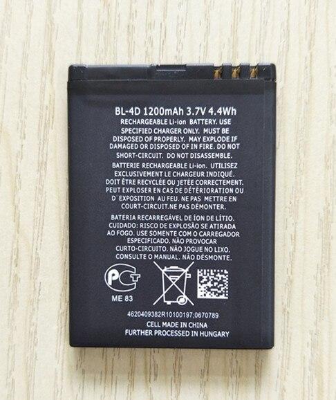 NEW 1200MAH  BL-4D BL 4D Phone Battery For Nokia N97 Mini N8 N8-00 E5 E5-00 E7 E7-00 T7 T7-00 702T N5 808 BL4D Battery