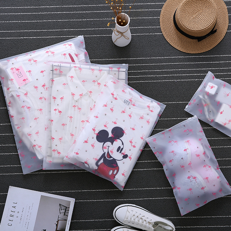 Fashion Flamingo Cosmetic Bag Transparent Make Up Case Organizer Travel Zipper Storage Wash Kit Box Makeup Pouch Toiletry Beauty