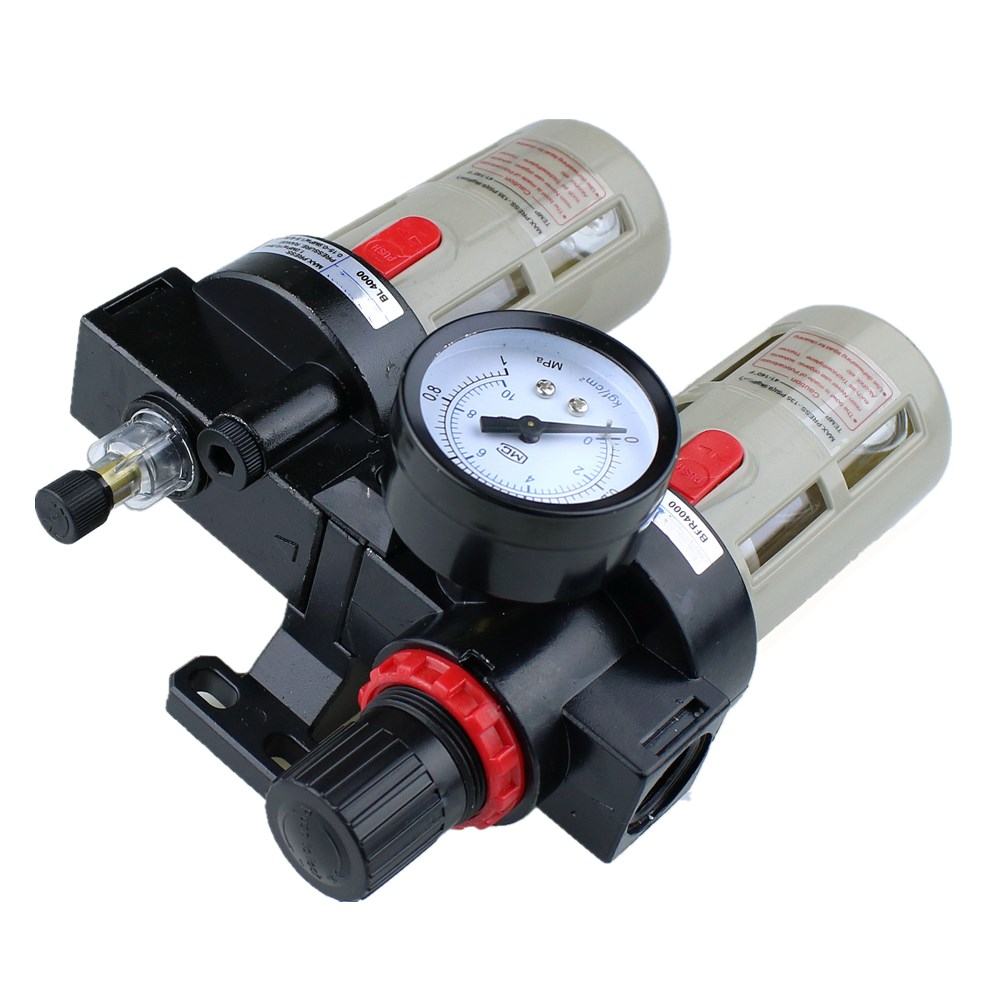 """Image 4 - BFC4000 Free Shipping 1/2"""" Air Filter Regulator Combination Lubricator ,FRL Two Union Treatment ,BFR4000 + BL4000-in Pneumatic Parts from Home Improvement"""
