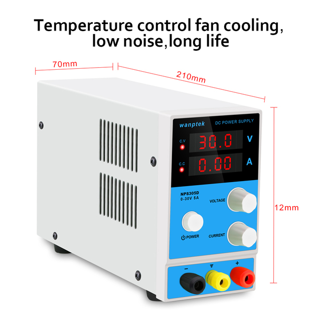30V 5A 220V Digital Switching DC Power Supply Adjustable Variable Precision Lab AC/DC Adapters