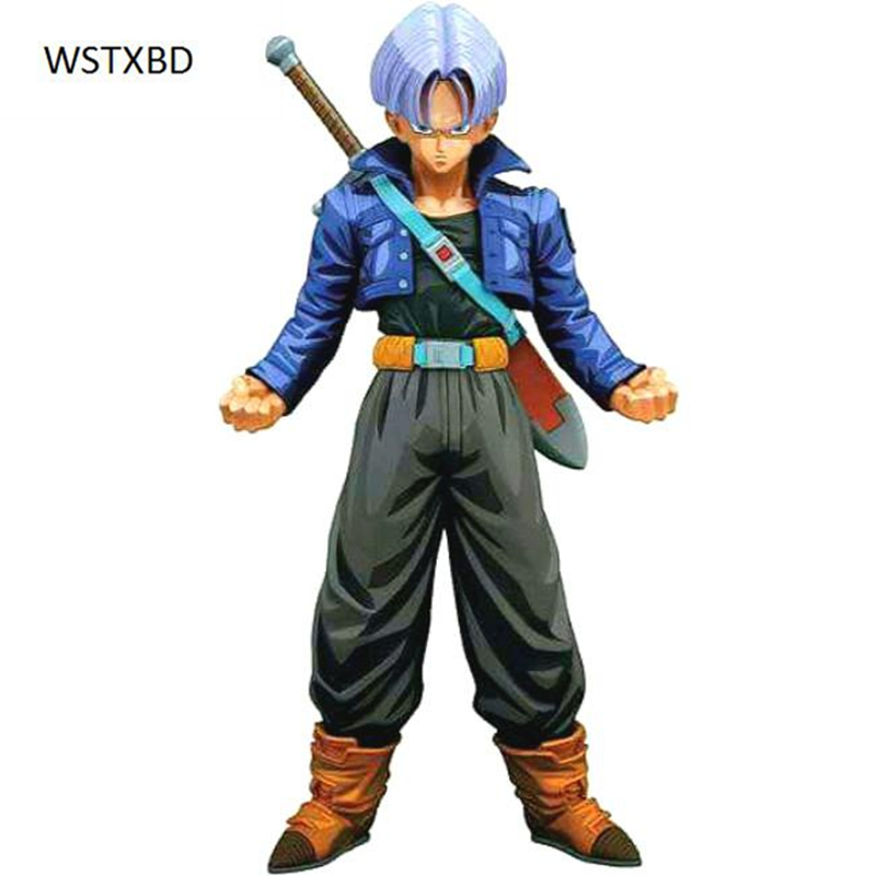 WSTXBD BANPRESTO Original Dragon ball Z DBZ MSP Trunks Manga Color PVC Figure Toys Figurals Model Dolls Brinquedos new original dragon ball z dbz blue god vegetto final pvc figure toys figurals model kids dolls