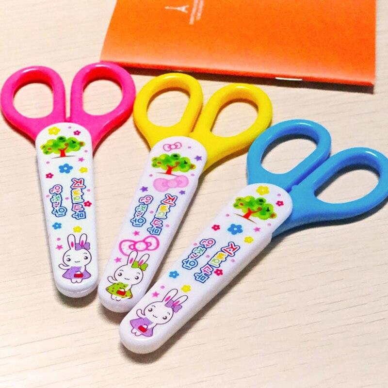 Kawaii Mini ciseaux en plastique de sécurité pour enfants coupe-papier bricolage Scrapbooking étudiant bureau fournitures scolaires coréen papeterie cadeau