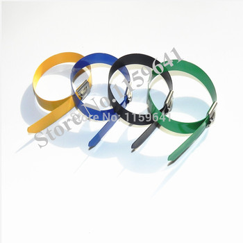1000pcs 12mmx350mm stainless steel self-locking cable ties