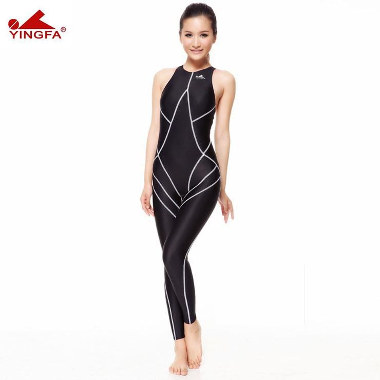 Hot sale Yingfa 977 piece swimsuit waterproof women body suits swimming full body suit for women