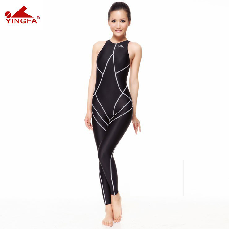 9d31102dcfe6 ¡Venta caliente! Yingfa 977 piezas traje de baño impermeable para mujer  trajes de cuerpo completo de natación para mujer traje de baño ...