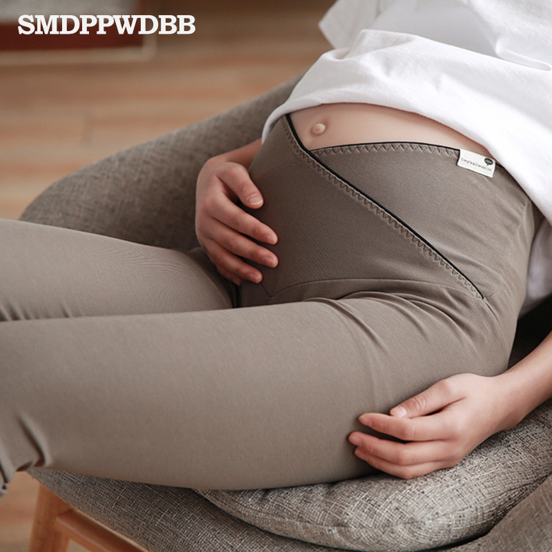 New 100%Cotton Women Pregnant Leggings Adjustable High Elasticity <font><b>Maternity</b></font> Leggings Pregnant Pants for Summer <font><b>Maternity</b></font> Pants