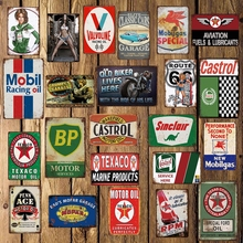 [ WellCraft ]  Motor Oil Man cave BP Garage Vintage Tin signs Bar Retro Wall Poster Paitning shabby chic home decor LT-1746
