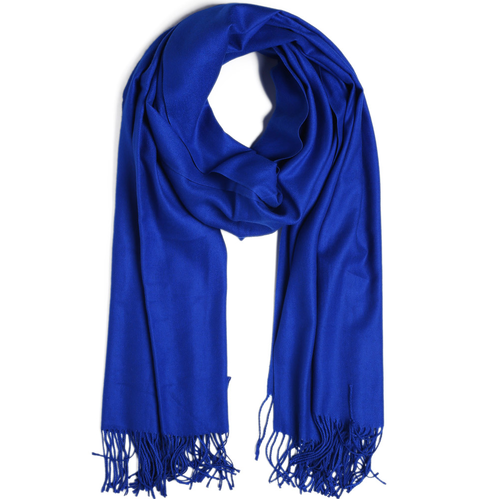 Fashion Cashmere   Scarf   Shawl Solid Autumn Winter   Wrap   Warm High Quality Soft Hijab Thick Women Pashmina Wool Luxury Royal Blue