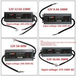 LED di Qualità ultra-sottile alimentazione elettrica impermeabile IP67 12/24 V DC trasformatore 60 W/100 W /150 W/200 W, 2A 4A 5A 6A 8A 12A 16A