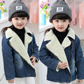 Baby Clothes Baby Girl Winter Jacket Coat for girl Children's winter Jacket for girl plus velvet denim jackets for boy warm coat