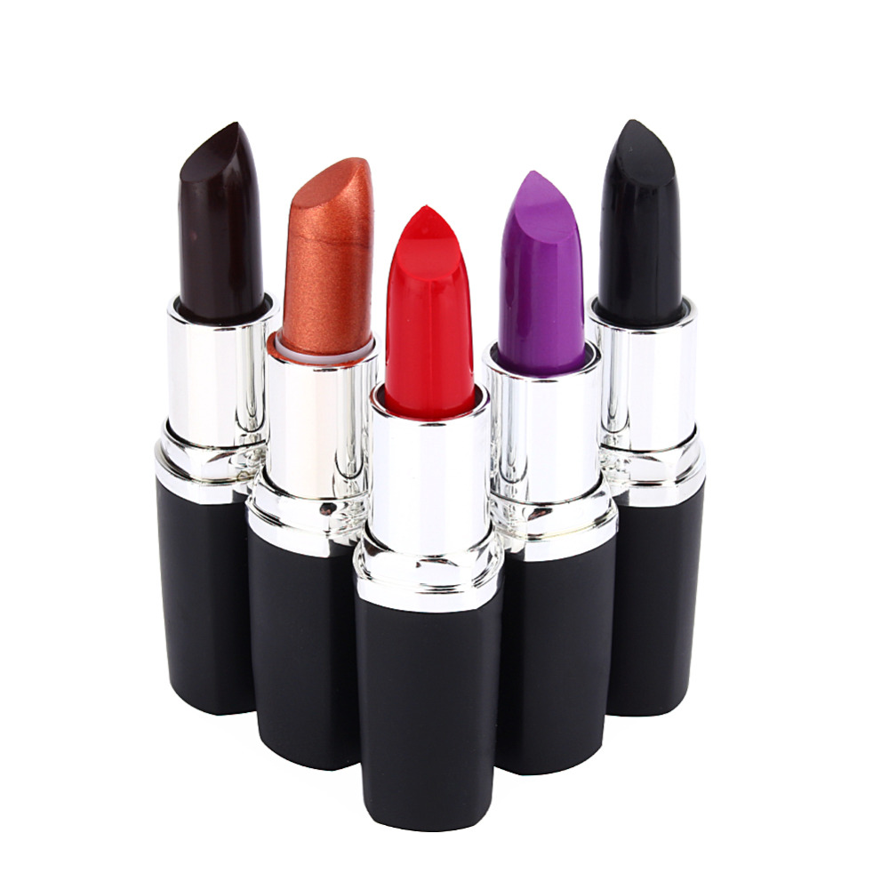 Waterproof Long Lasting Lip Gloss Vampire Style Makeup Purple Gold Black Red Lipstick Matte Lip Batom Dark Color Beauty Y28
