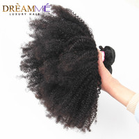 Mongolian Afro Kinky Curly Hair 3 Bundles 4B/4C Natural Black 1B Color 100% Human Hair Weave Dreaming Queen Remy Hair Products
