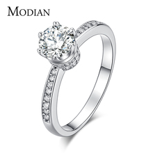 NEW design Fashion Jewelry Luxury Women Engagement ring 925 sterling Silver 5A Zircon Wedding crown Rings