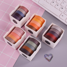 5 Pcs/Box Color Simple washi tape diy decoration for scrapbooking masking tape adhesive tape цена и фото