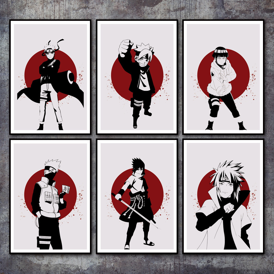 Anime Naruto Kakashi Art Prints Nordic Posters And Prints Modern Wall Art Canvas Painting Wall Pictures For Living Room Decor