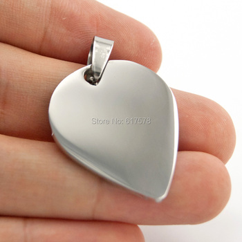 Risul stainless steel hanging plectrum charms guitar pick Pendant both sides mirror polished shiny jewelry wholesale 50pcs фото