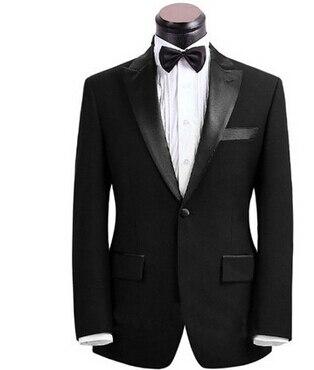 Custom Made black Men Suit Tailor Made Suit Bespoke Men Wedding Suit set Slim Fit Groom Tuxedos For Men(Jacket+Pants) jacket pants new arrival custom made mens suits wedding groom slim fit business wedding suit hombre casual suit