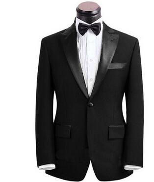 Custom Made black Men Suit Tailor Made Suit Bespoke Men Wedding Suit set Slim Fit Groom Tuxedos For Men(Jacket+Pants)