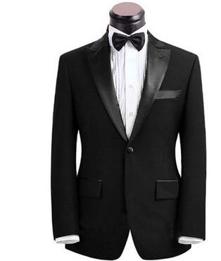 Custom Made preto homens terno feito sob medida terno sob medida Men set terno do casamento Slim Fit noivo smoking para os homens ( Jacket + Pants )