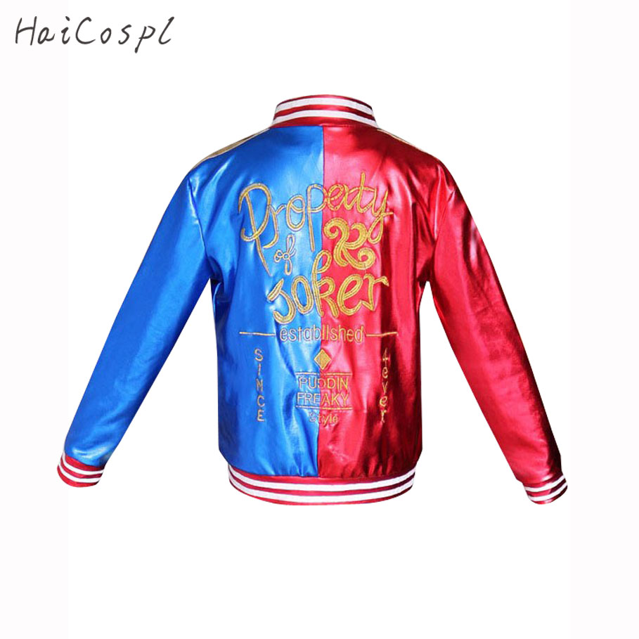 Womens Kids Harley Jacket Suicide Squad Cosplay Costume Fancy Halloween Coat