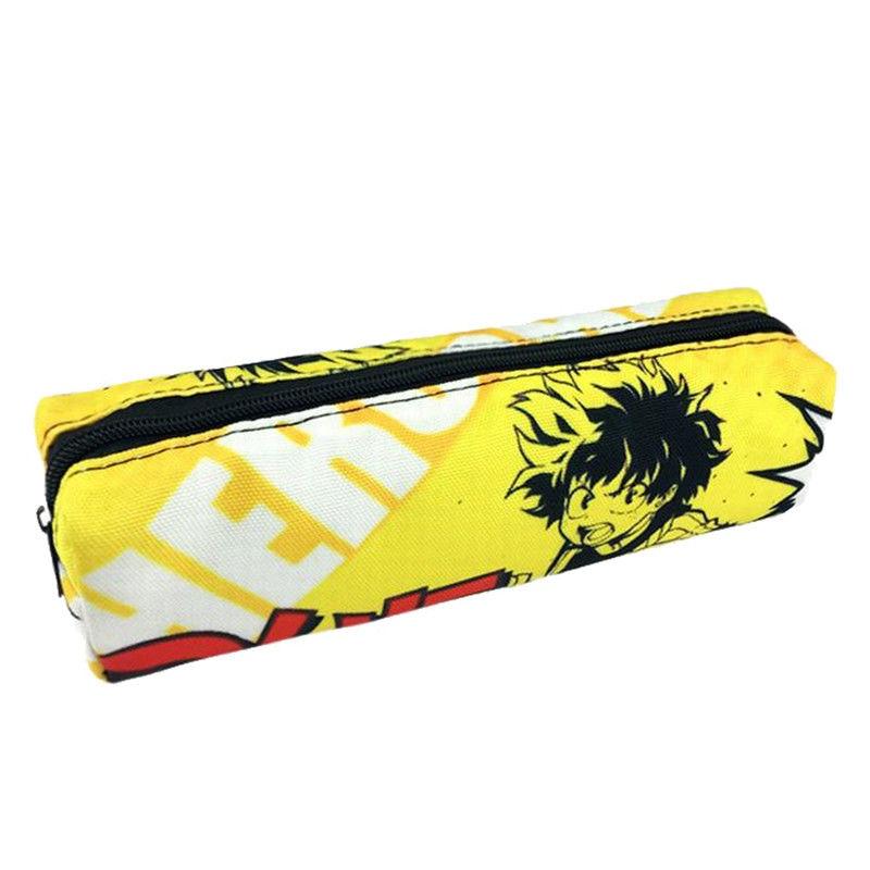Anime My Hero Academia Midoriya Izuku Pencil Case Canvas Makeup Cosmetic Bag Case