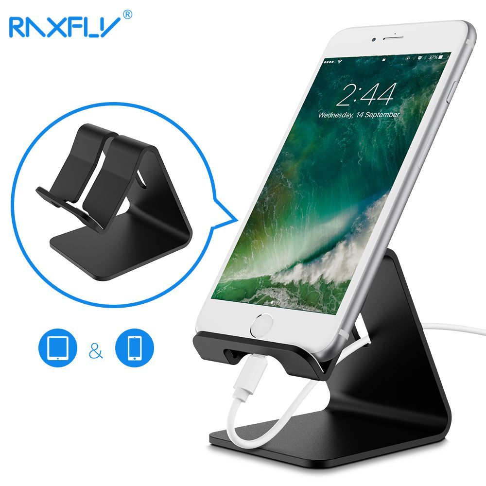 RAXFLY Universal Phone Holder Stand For iPhone X Mobile Phone Holder Tablet Desk Charging Mount For iPad Support Suporte Celular