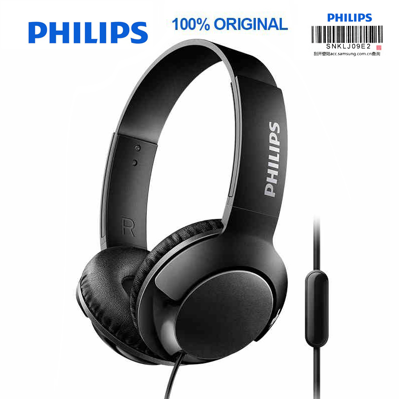 Philips SHL3075 Professional Bass Headphones with Wire Control Noise Reduction Headband Style for Samsung Galaxy S8/S9/S9Plus original sport philips shb5850 wireless headphones with bluetooth4 1 speaker wire controller for galaxy s9 s9 plus xiaomi huawei