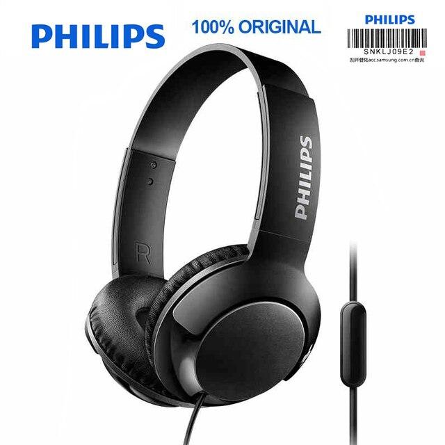 フィリップスSHL3075プロ低音ヘッドフォンワイヤー制御ノイズリダクションヘッドバンド三星銀河S8/S9/S9Plus