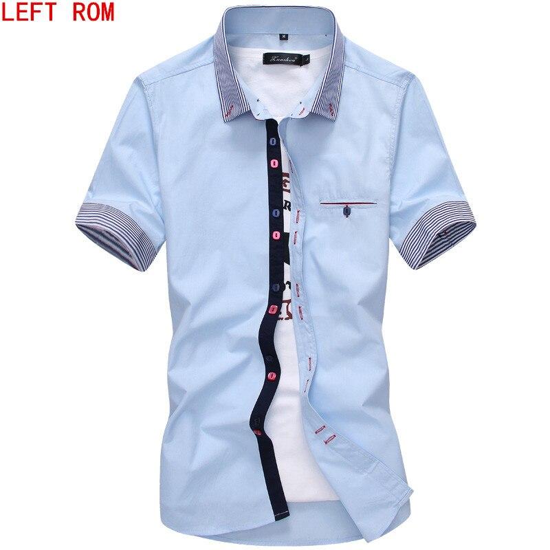 b296c88121a Male Shirt Brand Summer Mens Dress Shirts Short Sleeve Casual Shirt Men  Slim Fit Camisa Design Formal Shirt Imported Clothing in Pakistan