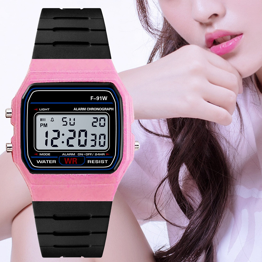 2019 Luxury Women Watch Silicone strap Analog Digital Military  Sport LED Waterproof montre femme Wrist Watch relogio(China)