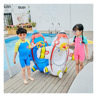1 6 years older Child Inflatable Swimming Circle Ring Party Cartoon Plane Inflatable Pool Float Party Toy Water Sport Swim Rings