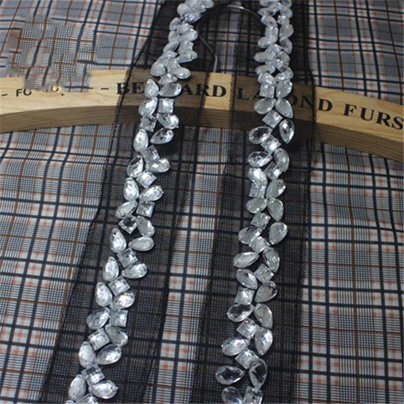 1yard Black Mesh Fabric Craft Braided Beads Rhinestone 014e6f6d6b41