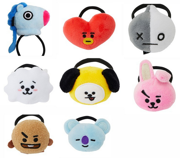 Apparel Accessories Girl's Accessories 1 Piece Kpop Bts Bt21 Lovely Cartoon Animal Elastic Hair Bands For Girls Lady Ponytail Rubber Band Hair Ties Rope Accessories