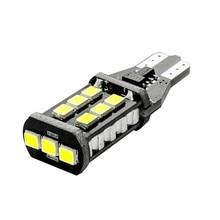 10 pièces T15 W16W WY16W 15 SMD 2835 LED feux de freinage automatique 15SMD CANBUS aucune erreur feu arrière de voiture clignotants arrière blanc rouge jaune