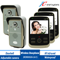 KDB302A 2v3 wireless intercom video doorbell smart interphone visiophone sans fil video door phone with 2 cameras 3 monitors