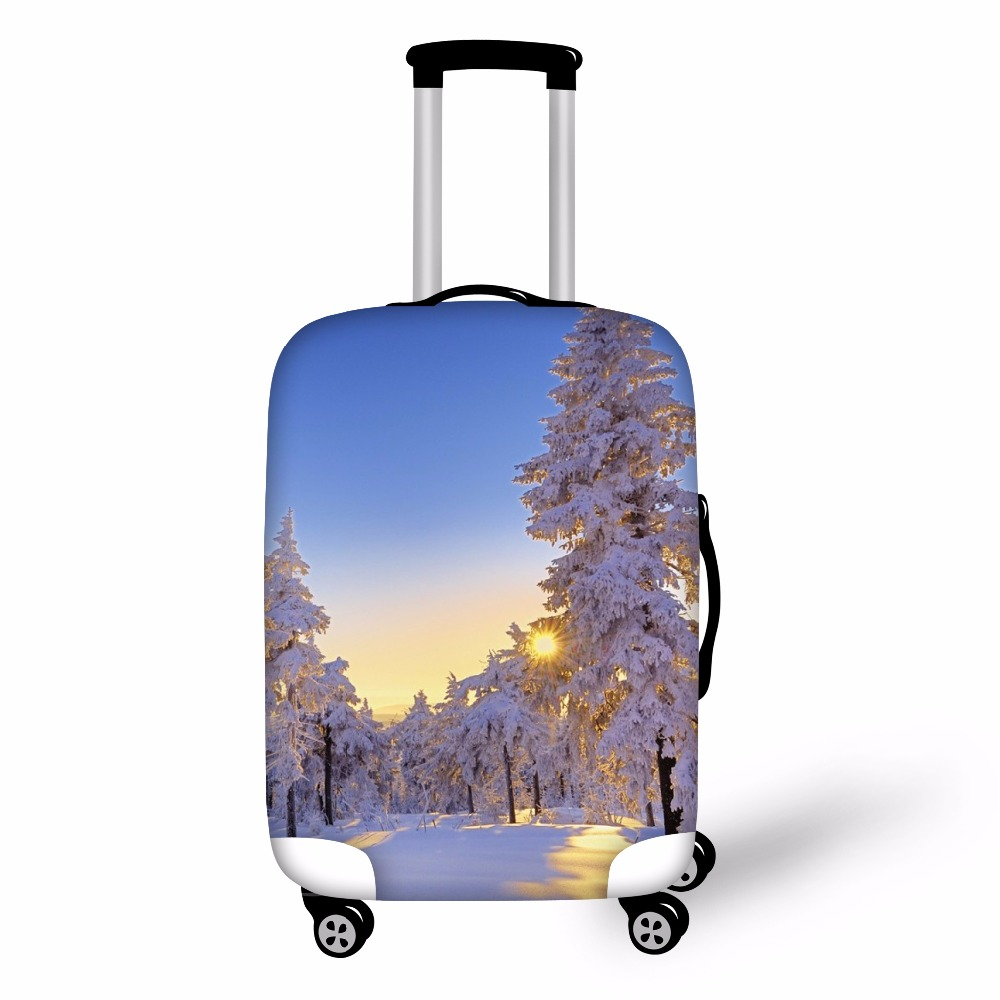 FORUDESIGNS 3D Landscape Luggage Cover Protective Waterproof Elastic Suitcase Cover  For 18 20 22 24 26 28 30 Inch Case Antidust