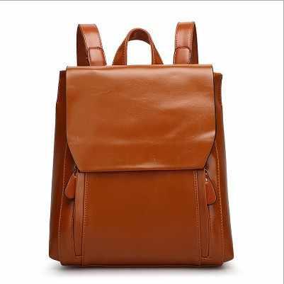Moda hakiki deri sırt çantası bağbozumu inek bölünmüş deri kadın sırt çantası bayanlar omuzdan askili çanta okul çantası genç kız için N029