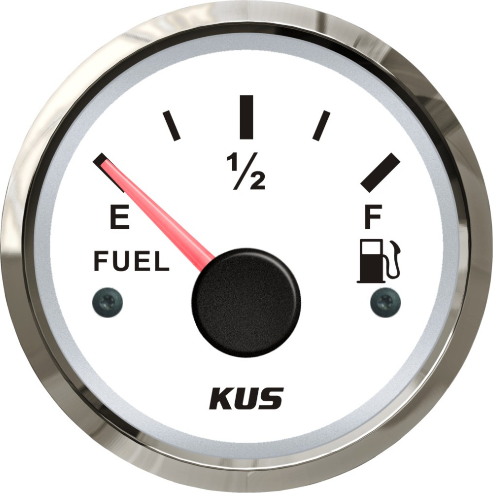 KUS 52mm Auto Marine Fuel Oil Level Gauge Meter 0 190ohm With Backlight 12V 24V