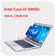 8GB Ram 128GB SSD aluminium ultrabook laptop 13.3inch 1920*1080 HD screen i3 5005U  backlit keyboard Windows 8.1 notbook