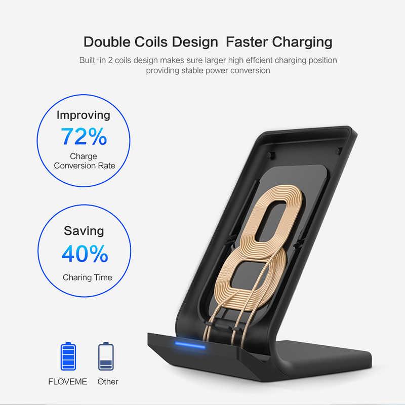 FLOVEME 5 v/2A Carregador Sem Fio Para Samsung Galaxy S8 S7 Nota Borda 8 Qi Sem Fio de Carregamento Dock Para iPhone X 8 XS MAX Carregador USB wireless charger Para iPhone XR charging cargador inalambrico