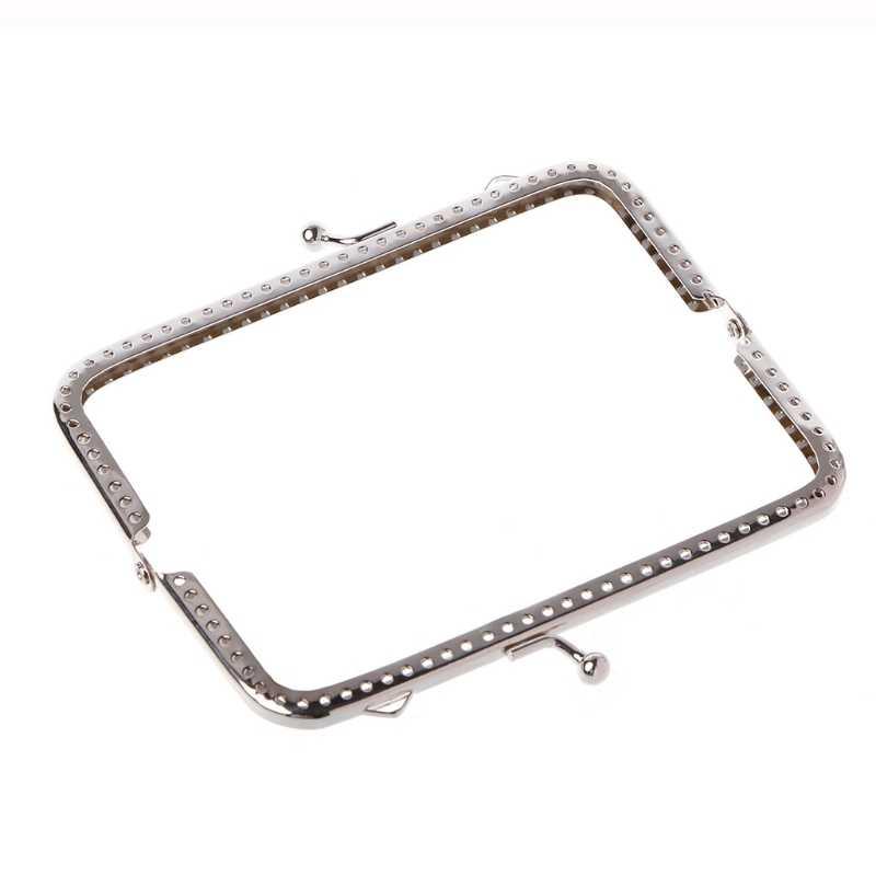 THINKTHENDO 1pc 縫う穴財布ハンドバッグハンドル金属コインバッグキスクラスプフレーム 12 センチメートル