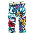 3 Color Baby flowers trousers Girls Pencil pants belt Ink painting pants wholesale