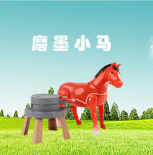 Robot Horse Electronic Toys Pet Horse Toy Run Walk Pull Stone Mill Around Toys For Children Birthday Gifts Colour Random(China)